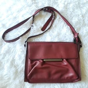 French Connection Burgundy Crossbody